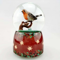Glitter globe Sparrow