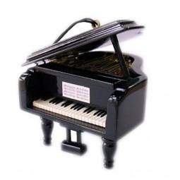 Piccolo pianoforte a coda in legno