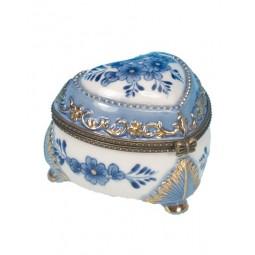 Scatoletta per pillole con fiori blu