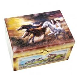 Cofanetto porta gioie cavallo