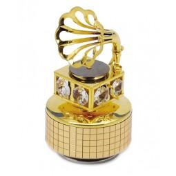 Grammofono con sei cristalli austriaci