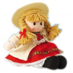 Bambola con abito folcloristico rosso