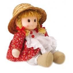 Bambola con vestito rosso