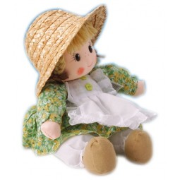 Bambola con vestito verde