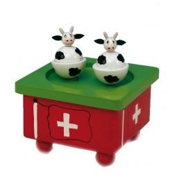 Mucche svizzere danzanti
