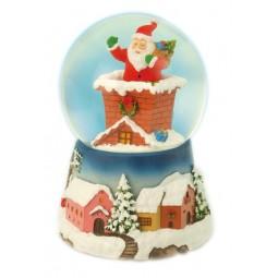 Sfera Babbo Natale nel comignolo