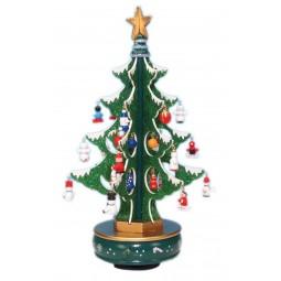 6er Albero verde con brillantini 320 mm