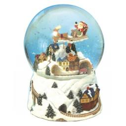 Sfera di neve treno di Natale