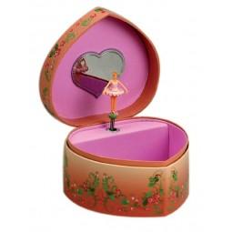 Cuore portagioie ballerina rosa