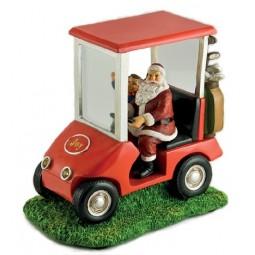 Babbo sulla macchina da golf