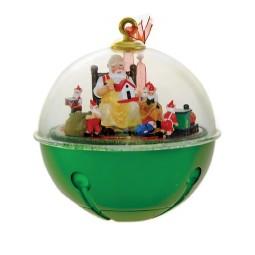 Sfera per albero di Natale con Babbo Natale