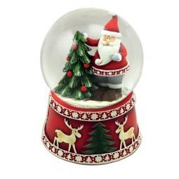 Sfera Babbo Natale sull'albero