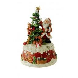 Babbo Natale che decora