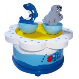 Delfino e foca danzanti