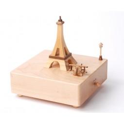 """Carillon in legno di altissima qualità """"Torre Eiffel""""."""