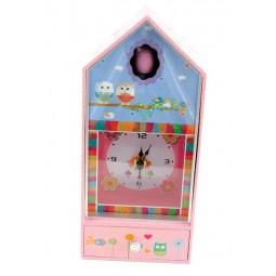 Carillon gufo con orologio