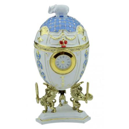 Carillon a forma di un uovo Fabergé di metallo
