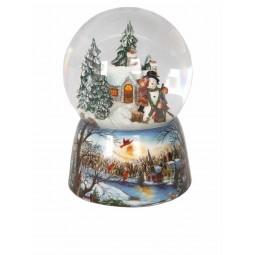 Sfera in porcellana fanno il pupazzo di neve