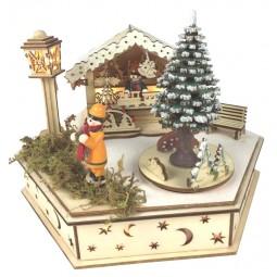 Carillon di legno mercatino di Natale