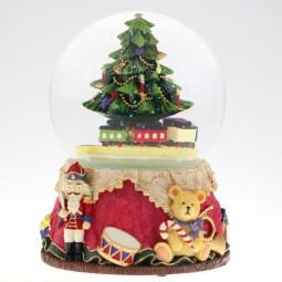 Palla di neve con l'albero di Natale