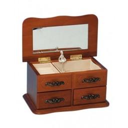 Armadietto in legno con due cassetti