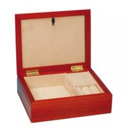 Portagioie legno chiaro con coperchio portafoto
