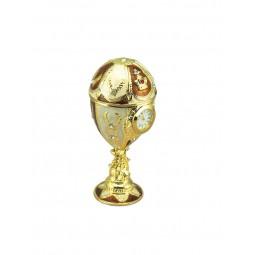 Porta gioielli stile uovo Fabergé colore oro