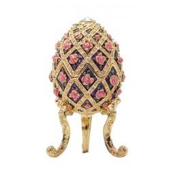 Uovo portagioie con fiori