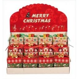 Espositore con 12 piccole scatole per regali