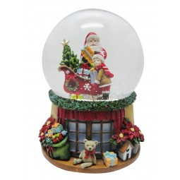 Sfera Babbo Natale e ragazzo
