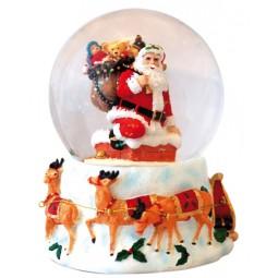 Palla di neve Babbo Natale nel camino