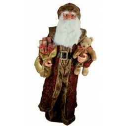 Grande Babbo Natale, avvolto in broccato