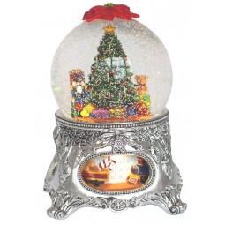 Palla di neve, albero di Natale