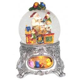 Palla di neve officina del Babbo Natale