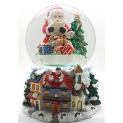 Palla di neve Babbo Natale con i doni