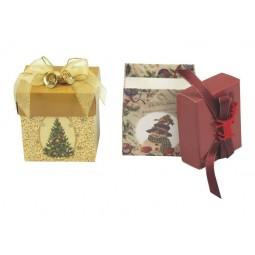 Espositore scatole regalo albero e pupazzo di neve